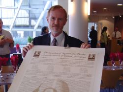 SAC chairman John Shahan, with the Declaration of Reasonable Doubt